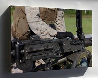 Canvas 16x24; 10Th Marines Conducts Machine Gun Training 140917 M Zz999 005