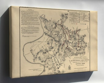 Canvas 16x24; Battlefield Map In Front Of Nashville 1864