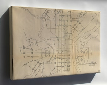 Canvas 16x24; 1911 Philly Streetcar Map 31