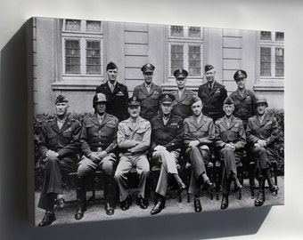 Canvas 16x24; U.S. Generals, World War Ii, Europe