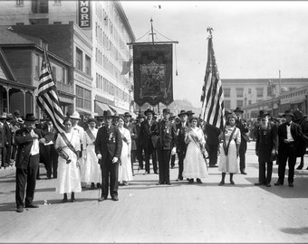 16x24 Poster; Civil War Musicians In A Memorial Day Parade In Los Angeles, Ca.1915 (Chs-14141)