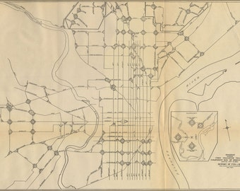 16x24 Poster; 1911 Philly Streetcar Map 31