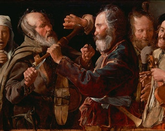16x24 Poster; The Musicians Brawl By Georges De La Tour 1625