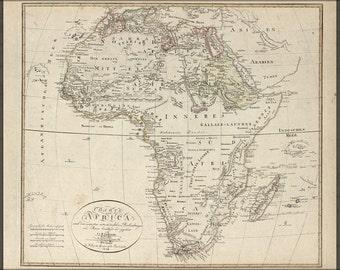 16x24 Poster; Charte Von Africa Map 1804