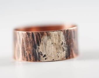 Rustic mens ring, Steampunk ring men, viking ring, copper ring men, mens promise ring, statement ring men, handmade ring men,ancient ring