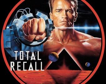 Total Recall Schwarzenegger Vintage Image T-shirt