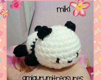 READY TO SHIP: Sleepy Panda amigurumi, crochet panda bear, kawaii panda, cute panda crochet, amigurumi panda plush (mahinabunny)