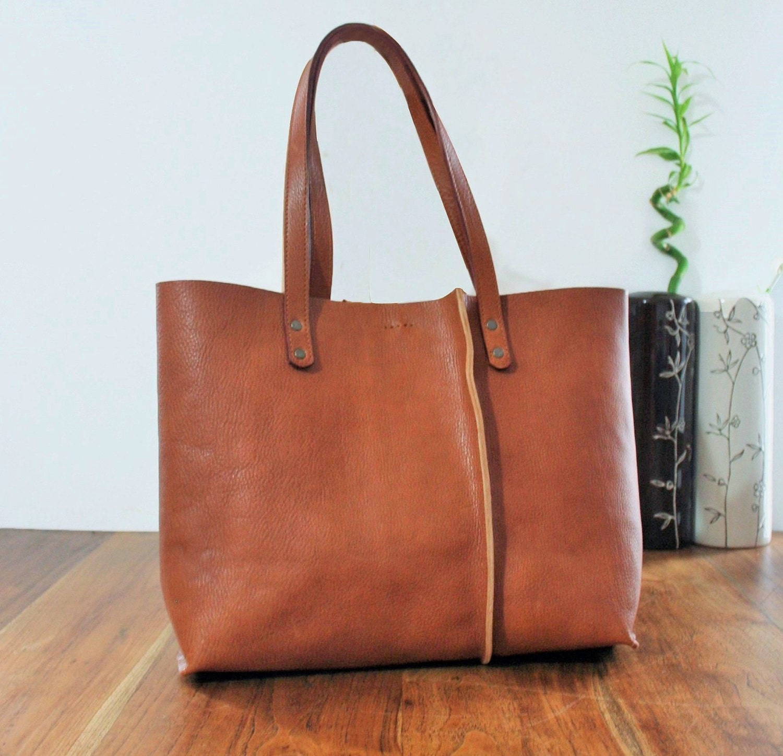 leather tote bag handmade leather bag tote bag large by. Black Bedroom Furniture Sets. Home Design Ideas