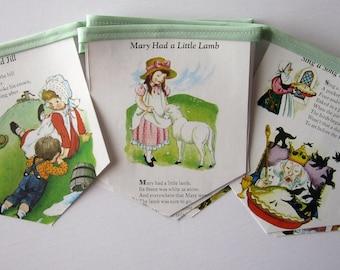 Mother Goose Baby Shower - Mother Goose Nursery Rhymes Banner - Baby Shower Banner - Baby Shower Decoration - Vintage Mother Goose Book