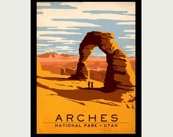 Utah Sticker - Arches National Park Sticker - Vintage Style Decal - Utah Car Decal - Arch Decal - Utah RV Decal - Utah Laptop Decal - S251