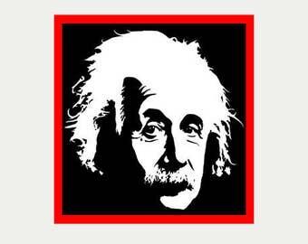 Albert Einstein Decal - Einstein Sticker - Physics Decal - Science Decal - Genius Sticker - Nerd decal - Laptop Sticker - Locker Decal  S180