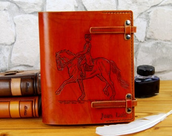 """7""""x9"""" Personalized Gift Horse  Leather Journal Notebook Diary Brown Leather Custom Journal Gift for Him Gift for Her TiVergy Book"""