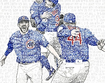 Chicago Cubs - Chicago Cubs World Series Art - Chicago Cubs Art - Chicago Cubs Poster - Chicago Cubs Print - Wrigley Field - Cubs Gift