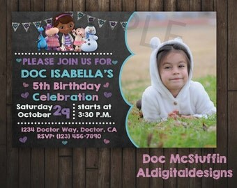 Doc McStuffin Invitation, Doc McStuffins Birthday Invitation