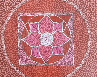 Root Chakra - Muladhara -- dot-painting