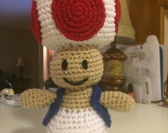 Nintendo Toad Plush Crochet Pattern