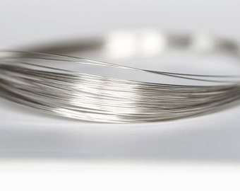 2155 Silver filled wire 26 gauge Jewelry wire 0.4mm Half hard wire for jewelry Wire wrap Thin craft wire Silver round wire Wrapping 2m