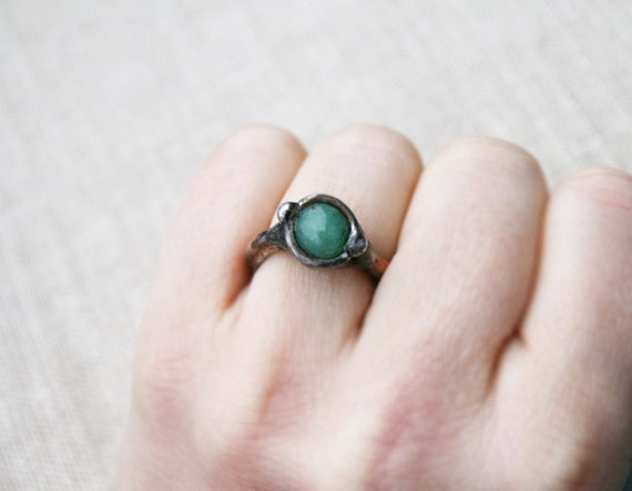 Aventurine Ring Gemstone Ring Green Ring Tiny Ring Old. Clover Rings. The Notebook Engagement Rings. Right Wedding Rings. Saphire Wedding Rings. Designer Rings. Sweet Briar College Rings. Anodized Rings. Aztec Rings