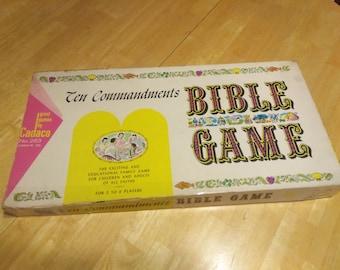 Ten Commandments Bible Game - 1966 - Cadaco - Board Game