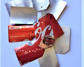 Aluminum Gift Tags / Recycled Soda Can / Thank You / Birthday Gift Tags / Metal Tags / Repurposed Coke Can Decor / Eco Friendly Gift Wrap /