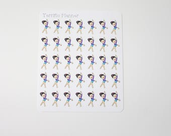 35 Girl Gymnast Gymnastics Stickers  Perfect for planners like Erin Condren, Plum Paper, Filofax  and more #47