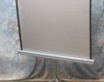 Projector Movie Slide Film Projection Screen Home Vintage Da Lite Silver Pacer a