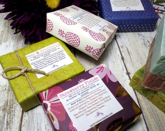 Soap Bundle, Natural Soap Gifts, Vegan Soap Gifts, Gifts for Her, Birthday Gifts, Soap Bars, Homemade Soap, Organic Soap,  Moisturizing Soap