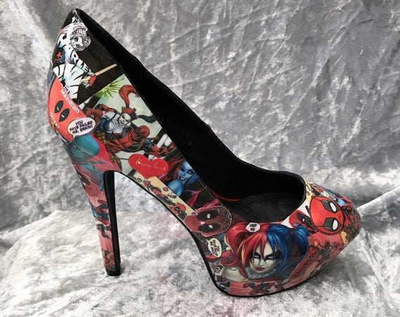 31f590640456 low-cost Harley Quinn Shoes Deadpool Shoes DC Comics Comic Book ...