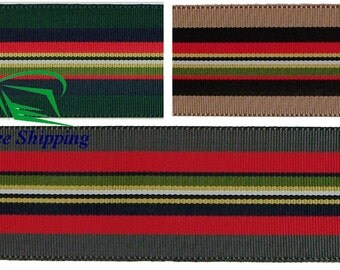 "1.5"" (38mm) Multi-color Grosgrain Ribbon 1064 (2 yds)"