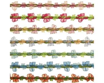 """3/8"""" (10mm) French Organza Rococo Ribbon 3087 BTY"""