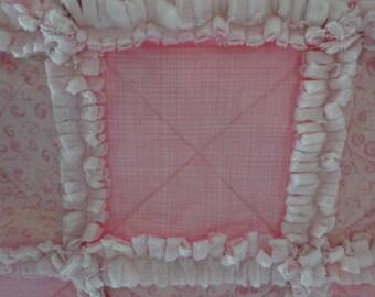 Rag Quilt, Baby Rag Quilt, Pink Patchwork Quilt, Pink Baby Quilt, Pink Rag Quilt, Girl Nursery, Baby Quilt, Wheelchair Blanket, Pink Throw
