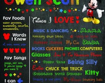 Mickey Birthday Poster