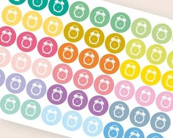 54 alarm clock sticker, student stickers, planner stickers, reminder, school stickers, test exam homework work eclp filofax happy planner
