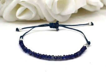 Iolite beads bracelet