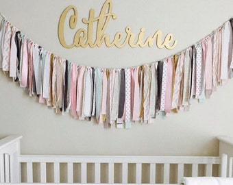 Baby Nursery Name Sign