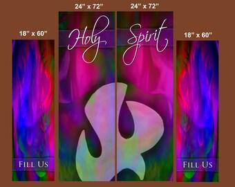 Holy Spirit / Fill Us - Banner Set of 4 (G216-2)