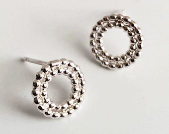 Earrings silver balls