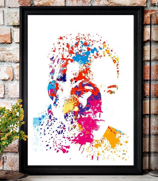Bruce Springsteen // The Boss // Paint Splatter Unique A4 / A3 Art Print
