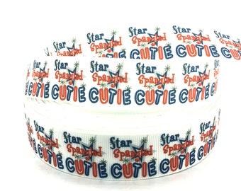 4th of July Ribbon, July 4th Ribbon, Stars and Stripes, Star ribbon, Flag Ribbon, Red White Blue, Patriotic ribbon, Patriotic Grosgrain,