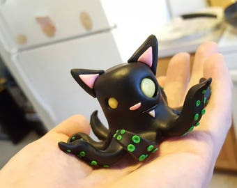 Black OctoKitty figurine