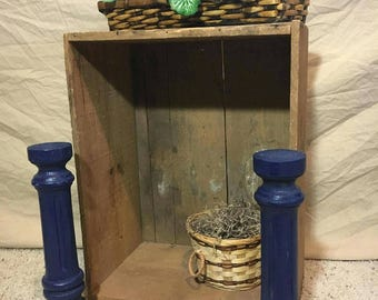 Spindle home decor rustic primitive up-cycled