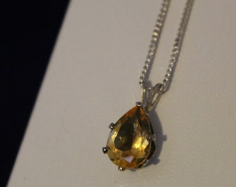Pear Citrine Necklace