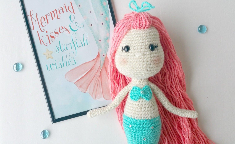 Crochet Pattern Mermaid Doll : mermaid crochet pattern crochet mermaid mermaid doll