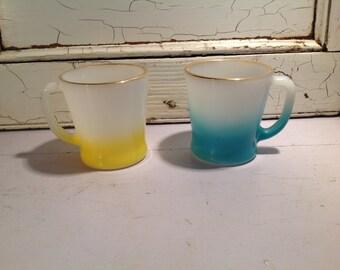 2 fireking mugs