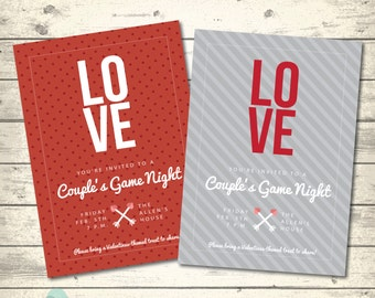Valentines Day Party Invitation | Couple's Night | Valentine's Adult Game Night | Digital Printable