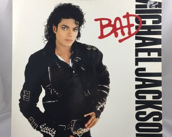 Michael Jackson Bad, Vinyl LP, Record Album, 1987 Michael Jackson, Man in the Mirror, Smooth Criminal, Dirty Diana, Bad, 1980's Pop Music