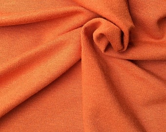 Bamboo Stretch French Terry | Burnt Orange