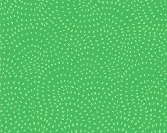 Twist Green Cotton Fabric, Patchwork and Quilting Fabric, 100% Cotton - Fat Quarter