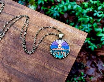 Wooden Necklace - Adventure Awaits 2