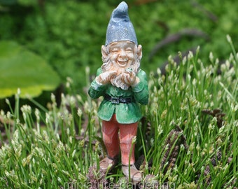 Gnome Ronnie with Pick for Miniature Garden, Fairy Garden